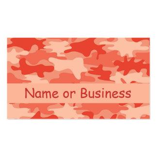 Nombre anaranjado del camuflaje de Camo personaliz Tarjeta Personal
