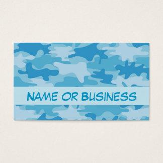 Nombre azul del camuflaje de Camo personalizado Tarjeta De Negocios
