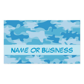 Nombre azul del camuflaje de Camo personalizado Tarjetas De Visita