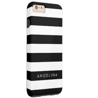 Nombre blanco y negro del personalizado del modelo funda resistente iPhone 6 plus