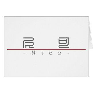 Nombre chino para Nico 22495_0.pdf Tarjeta De Felicitación