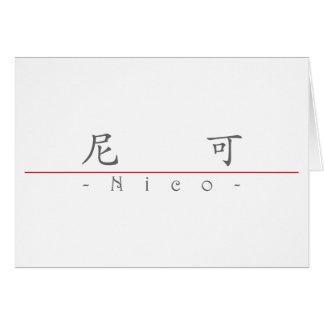 Nombre chino para Nico 22495_1.pdf Tarjeta De Felicitación
