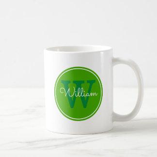 Nombre + Círculo del verde del interior de la Taza De Café