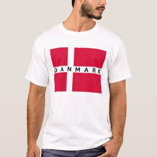 nombre danés del texto del país de la bandera del camiseta