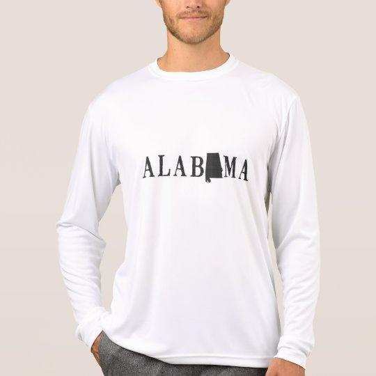 Nombre de Alabama con la letra formada estado Camiseta