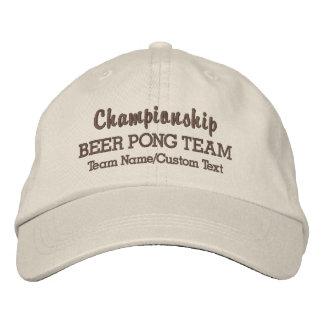 Nombre de consumición del personalizado del juego gorra bordada