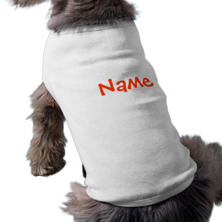 Nombre de DIY - blanco de las camisetas sin mangas Camiseta Sin Mangas Para Perro