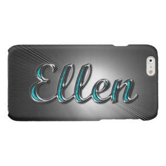 Nombre de Ellen en la turquesa y la plata impresas