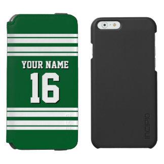 Nombre de encargo blanco del número del jersey de funda cartera para iPhone 6 watson