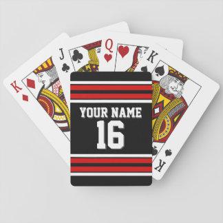 Nombre de encargo blanco rojo del número del barajas de cartas