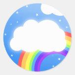 Nombre de encargo de la nube del arco iris - pegat
