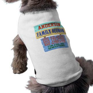 Nombre de encargo de madera divertido de la camiseta sin mangas para perro