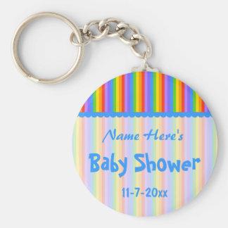 Nombre de encargo El arco iris raya la ducha de b Llaveros Personalizados
