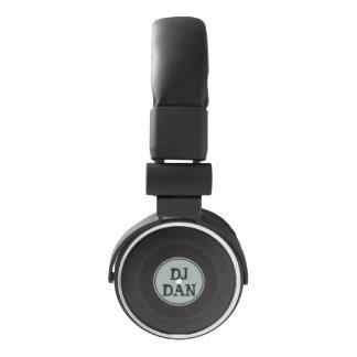 Nombre de encargo personalizado disco de vinilo auriculares