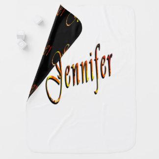 Nombre de Jennifer, del logotipo manta reversible