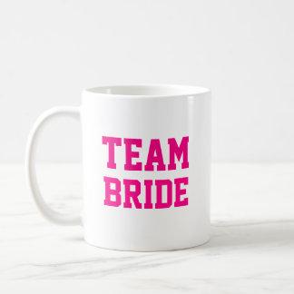 Nombre de la dama de honor de la novia del equipo taza básica blanca