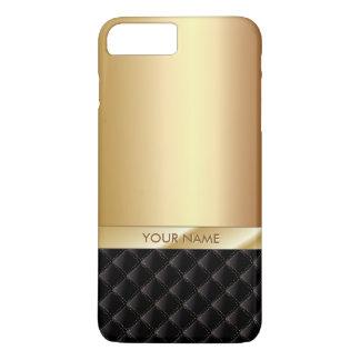 Nombre de lujo real del personalizado del oro funda iPhone 7 plus