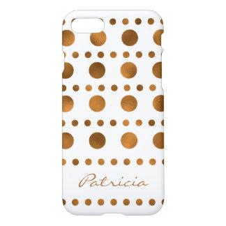 Nombre de oro de moda del personalizado de los funda para iPhone 7