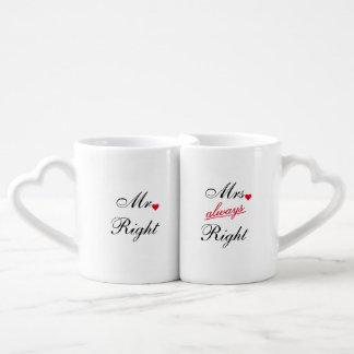 Nombre del aniversario de boda de Sr. la Right Set De Tazas De Café