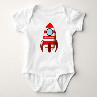 Nombre del bebé en el espacio Rocket Body Para Bebé