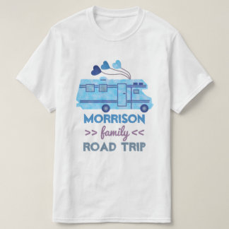 Nombre del campista rv Motorhome de las vacaciones Camiseta