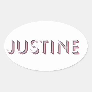 Nombre del pegatina de Justine