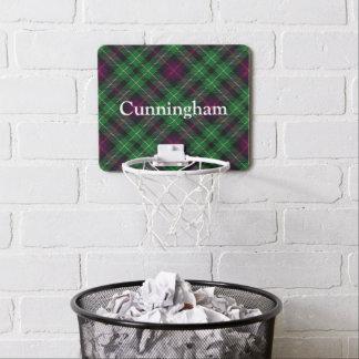 Nombre del personalizar del tartán de Cunningham Mini Tablero De Baloncesto