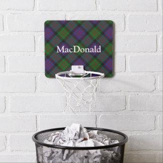 Nombre del personalizar del tartán de MacDonald Mini Aro De Baloncesto