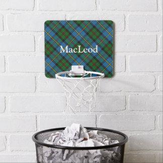 Nombre del personalizar del tartán de MacLeod del Mini Tablero De Baloncesto