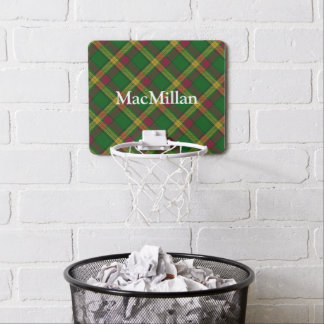Nombre del personalizar del tartán de MacMillan Mini Tablero De Baloncesto