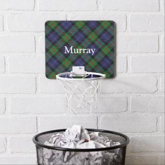 Nombre del personalizar del tartán de Murray del Mini Aro De Baloncesto