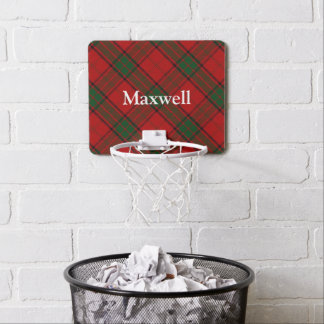 Nombre del personalizar del tartán del maxwell del mini tablero de baloncesto