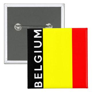 nombre del texto de la bandera de país de Bélgica Chapa Cuadrada 5 Cm