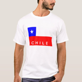 nombre del texto de la bandera de país del chile camiseta