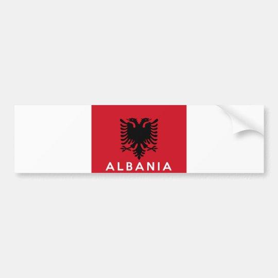 nombre del texto del país de la bandera de Albania Pegatina Para Coche
