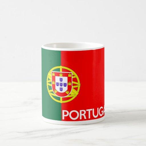 nombre del texto del país de la bandera de Portuga Taza De Café