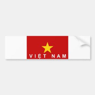 nombre del texto del país de la bandera de Vietnam Pegatina Para Coche