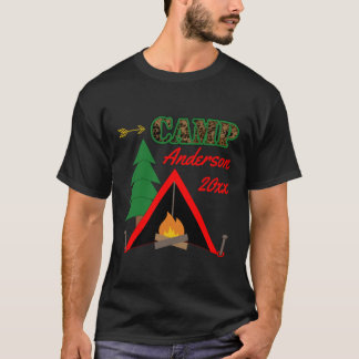 Nombre deportivo de la tienda de la hoguera que camiseta