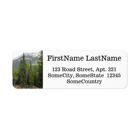 Nombre/dirección de encargo + Escena del bosque y Etiqueta De Remite