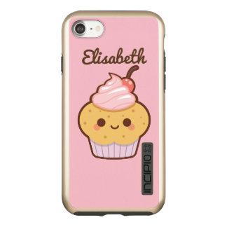 Nombre dulce del personalizado de la cereza de la funda DualPro shine de incipio para iPhone 7