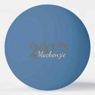 Nombre elegante elegante de la graduación del año pelota de ping pong