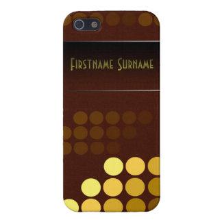 Nombre enrrollado del personalizado del chocolate  iPhone 5 coberturas