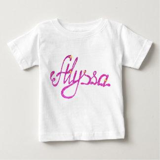 Nombre fino de Alyssa de la camiseta del jersey