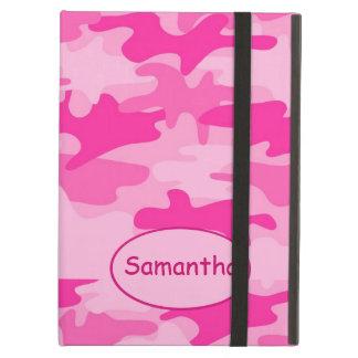 Nombre fucsia rosado del camuflaje de Camo persona Funda Para iPad Air