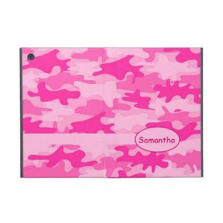 Nombre fucsia rosado del camuflaje de Camo persona Funda Para iPad Mini