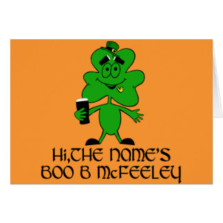 Nombre irlandés grosero divertido felicitación