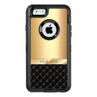 Nombre moderno del personalizado del negro y del funda otterbox para iPhone 6/6s