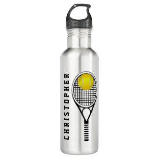 Nombre o monograma personalizado tenis botella de agua