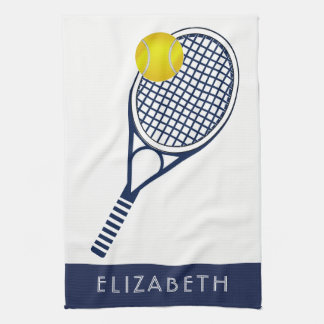 Nombre o monograma personalizado tenis paño de cocina