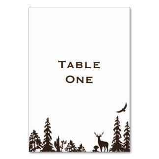 Nombre o número de la tabla del boda del arbolado tarjeta